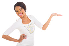 African girl presenting Royalty Free Stock Photo