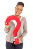 African girl question Royalty Free Stock Image