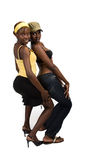 African girl's couple Royalty Free Stock Photography