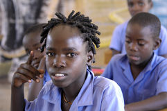 African girl in school - Namibia Stock Photo