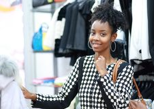 African girl shopping Stock Photos