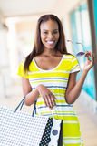 African girl shopping Royalty Free Stock Photo