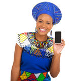 African girl smart phone Royalty Free Stock Photography