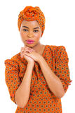 African girl in traditional attire Stock Photos
