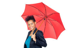 African girl with a umbrella Royalty Free Stock Image