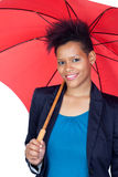 African girl with a umbrella Stock Image