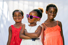 African Girl Wearing Fun Sunglasses. Royalty Free Stock Image