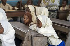 Free African Girls In School During The Lesson, Zanzibar, Tanzania, Africa Royalty Free Stock Photography - 179819797