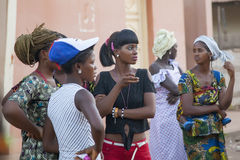 African girls at a public gathering Royalty Free Stock Image