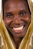 African golden woman Royalty Free Stock Photography