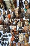 African goods, flea market in Brussels Stock Photo