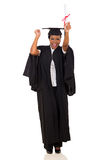 African graduate dancing Royalty Free Stock Photography