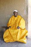 African Grand Father. Portrait of a Great Father in his African home in Ouagadougou stock image