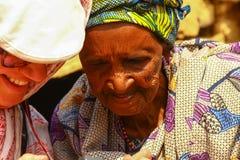 Senior African Woman Granny stock photos