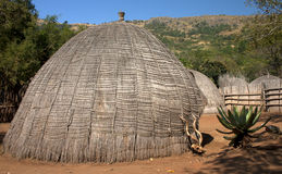 African grass hut Royalty Free Stock Photography