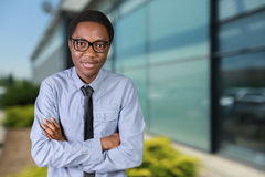 African guy with his arms crossed Royalty Free Stock Photography