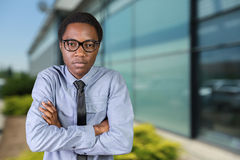 African guy with his arms crossed Royalty Free Stock Images