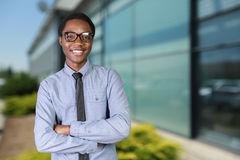 african guy with his arms crossed Stock Photography
