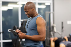 African gym instructor Stock Images