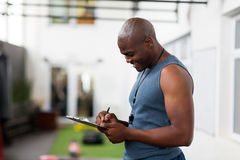 African gym trainer Stock Images