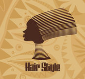 African hair style. Royalty Free Stock Image