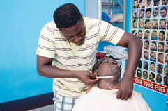 African hairdresser Royalty Free Stock Image