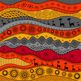 African hand-drawn ethno pattern, tribal background.. It can be used for wallpaper, web page and others.  Vector Stock Photos