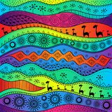African hand-drawn ethno pattern, tribal background. It can be used for wallpaper, web page and others. Vector illustration. African hand-drawn ethno pattern vector illustration