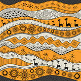 African hand-drawn ethno pattern, tribal background. It can be used for wallpaper, web page and others.  Vector illustration. African hand-drawn ethno pattern Royalty Free Stock Photos