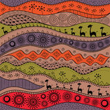 African hand-drawn ethno pattern, tribal background. It can be used for wallpaper, web page and others. Vector illustration. African hand-drawn ethno pattern royalty free illustration
