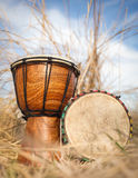 African hand percussion instrument. Djembe drums Stock Photos