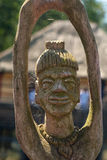 An african handcraft wood carved people figures Royalty Free Stock Photography