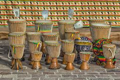African handmade drums Stock Images