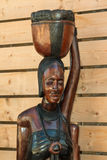 African Handmade Ethnic Wooden Statue Royalty Free Stock Photo