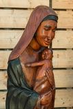 African Handmade Ethnic Wooden Statue Royalty Free Stock Image