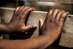 African hands. Royalty Free Stock Photography