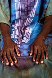 African hands portrait Stock Photo