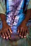 African hands portrait stock photo