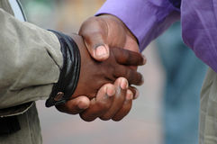 African handshake Stock Photo