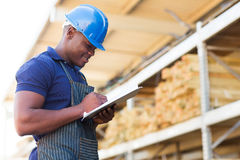 African hardware store worker Royalty Free Stock Image