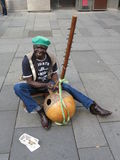 African harp kora player Stock Photo