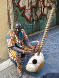 African harp player stock image