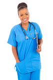 African healthcare worker Royalty Free Stock Photo