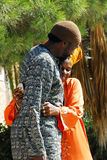 African Hebrew Israelites of Jerusalem. DIMONA, ISR - NOV 06:Black Hebrews couple on Nov 3 2008.The group practices Polygyny man can marry up to 6 wives within Stock Image
