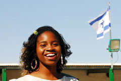 African Hebrew Israelites of Jerusalem. DIMONA,ISR - NOV 06:Young Black Hebrews woman on Nov 3 2008.The group is not considered Jews in Israel. The Israeli Royalty Free Stock Image