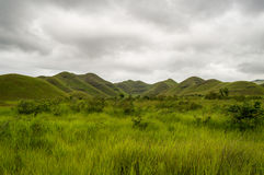 African hills in Congo, Mountain of the Moon. Stock Photos