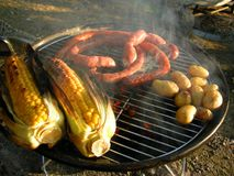 african hot charcoal braai royalty free stock photography