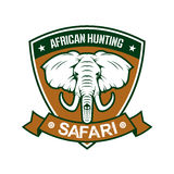 African hunting safari club sign Royalty Free Stock Photos