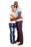 African husband hugging wife Royalty Free Stock Photography