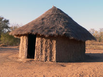 African Hut. Straw roof hut in Africa Royalty Free Stock Image